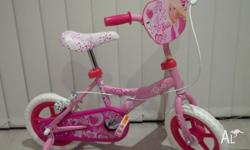 Pink 'Barbie' theme bicycle in mint condition with
