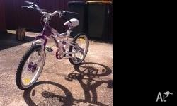 Girls BMX style bike with FREE helmet and Razor