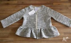 GIRLS CARDIGAN - SIZE 2 BRAND NEW WITH TAGS Butterfly