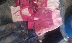 jeans, jackets, tops, pants, dresses.. sizes range from