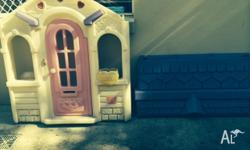 Step 2 little girls plastic cubby house. White with a