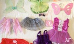 Ballet dresses, skirts, wings and