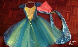 This fairy costume is a size 5-6 cames with fairy bag