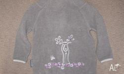 girls fleece jacket size 4 cute elk on the back In