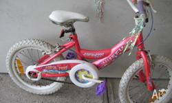 Girls Huffy Bicycle 16 in Frame Pink colour Good