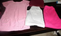 Girls clothing, size 4 Pink sleeveless fashion jumper,