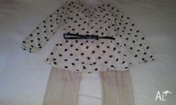 Girls Size 12 beige coloured outfit. Excellent