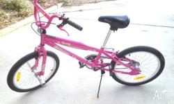 Girls Pink push bike. Great near new condition, 12