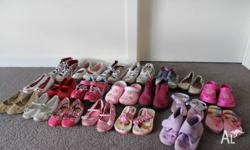 20 pairs of girls shoes mostly sizes 9 and 10 Pick up