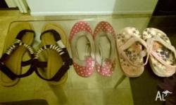 Girls shoes. Pink shoes size 9. Black shoes size 8 and