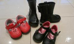 Red Shoes - size 6 (worn for 2 months) - Black Bow