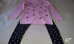 Girls size 12 jumper with matching leggings. Only worn