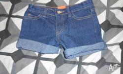 I have this pair of girls size 3 denim shorts. I bought