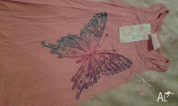 Girls size 4 bundle including new butterfly tank top..2