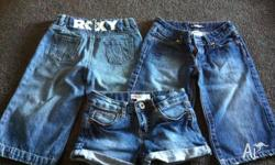 I have for sale 2 x pairs of Roxy 3/4 demin shorts in
