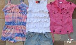 Girls Summer Clothes sizes 8 to 10, T-shirts, shorts,