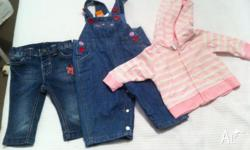 0000 and 000 girls clothes bundle includes pumpkin