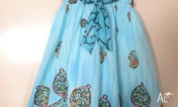 Girls Zara dress, for ages 5-6 (116cm long), Turquise