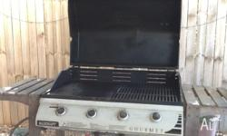 Well used BBQ , in working condition. Gas bottle not