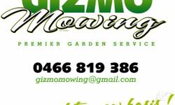 Gizmo mowing and garden maintenance, servicing Canberra