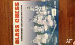 Glass Chess Set Featuring Frosted and clear glass