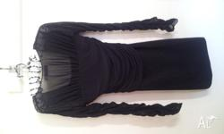 Size S (8-10) Tight Fitting Sheer Arms Worn Once