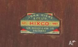 Glory Box made by John Hicks and Co., est 1867. Bought