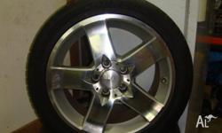 gmax 17 inch alloys x 8 pcd 5x114.3 off set +38 235 45
