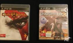 For sale is God of War III & Uncharted 3 for PS3. Great