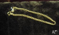 Never worn gold chain, 18 Carat gold layered over