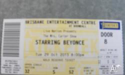 i have 1 gold class Beyonce ticket for sale. brisbane