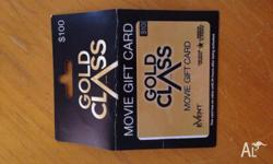I have a $100 gift voucher for gold class event cinemas