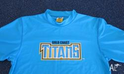 GOLD COAST TITANS NRL SUPPORTERS RASHIE SHIRT, FOR SURF