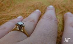 Old engagement ring. Still beautiful. Worth $350 but