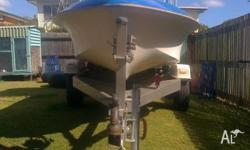 I HAVE MY 4.3M FIBREGLASS BOAT ON TRAILER FOR SALE.