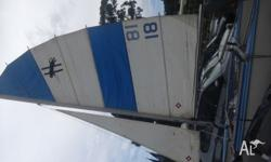 catamaran in good shape, comes with a full set of sails