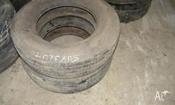 We have 2 215/75 R 17.5 tyres to sell Call our number