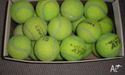 Hundreds of used name brand tennis balls available in