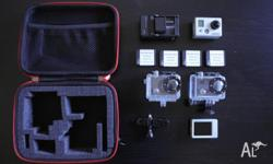 Selling GoPro HD Hero 2 w/ accessories includes: -