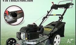 This New Black Eagle 4 In 1 Self Propelled 18� Lawn
