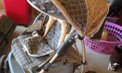 Well Used Great Little Pram! Also has drink holder and