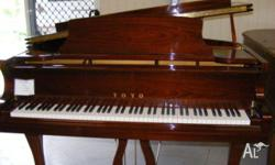 TOYO 168GRAND PIANO MAHOGANY HIGH GLOSS CASE BEAUTIFUL
