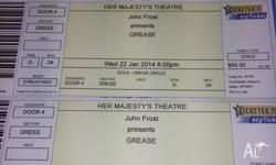 1 adult ticket and 3 children tickets to Grease the