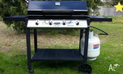 Very nice and clean BBQ Near full gas excellent