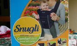 Great, clean condition. Near new. Snugli baby carrier.