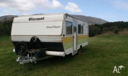 Good Family Caravan with Dble bed and 2 bunk beds,