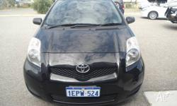 a nice little black 2009 TOYOTA YARIS 5 DOOR HATCHBACK