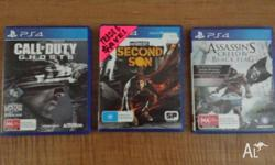 For sale i have these 3 playstation 4 games, Cod