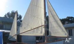 18 ft sharpie hull to a design by Mike Roberts (similar