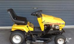 32 inch cut; 16.5 hp Briggs and Stratton motor; Only 73